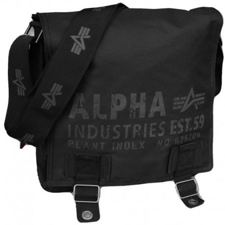 1de281bcef Torba na ramię Alpha Industries Cargo Oxford Courier Bag Black ...