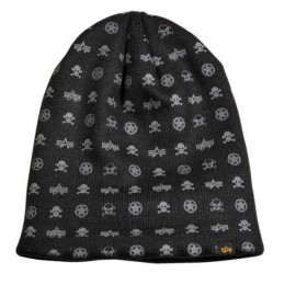 Czapka Alpha Industries All Over Loose Beanie Black