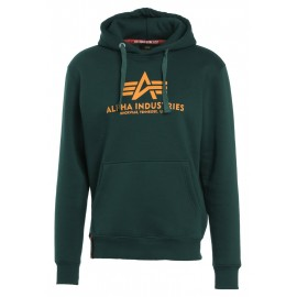 Bluza z kapturem Alpha Industries Basic Hoody Dark Petrol