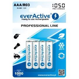 Akumulatorek everActive R03/AAA 1000 mAh, 4 szt.