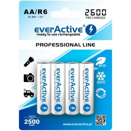 Akumulatorek everActive R6/AA 2500 mAh, 4 szt.