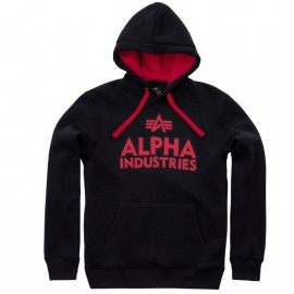 Bluza z kapturem Alpha Industries Foam Print 03 Czarna