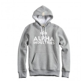 Bluza z kapturem Alpha Industries Foam Print 17 Szara