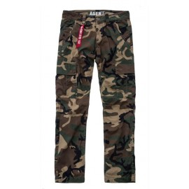 Spodnie Alpha Industries Agent C 408 woodland camo