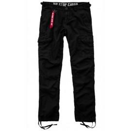 Spodnie Alpha Industries Rip Stop Cargo 03 czarne