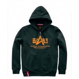 Bluza rozpinana z suwakiem Alpha Industries Basic Zip Hoody 353 dark petrol