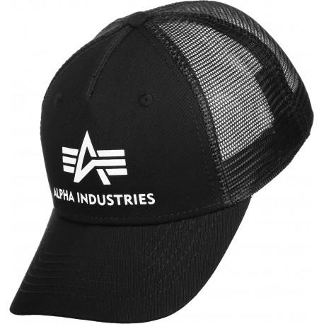 Czapka z daszkiem Alpha Industries Basic Trucker Cap 03 czarna