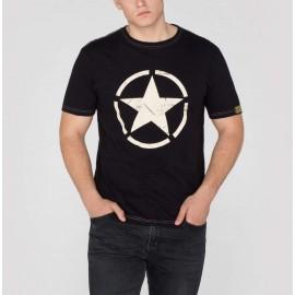 Koszulka Alpha Industries Star T czarna (121513-03)