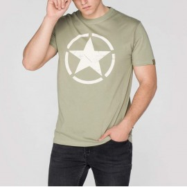 Koszulka Alpha Industries Star T olive (121513-11)