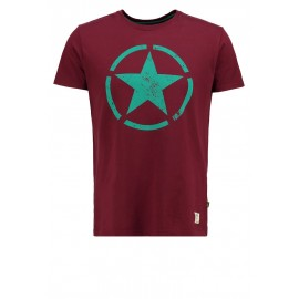 Koszulka Alpha Industries Star T burgundy (121513-184)