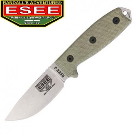 Nóż ESEE 3 Uncoated