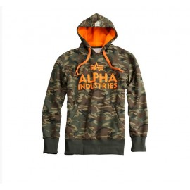 Bluza z kapturem Alpha Industries Foam Print 12 Woodland camo