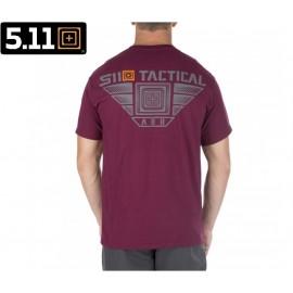 Koszulka 5.11 Leveled Up Tee Maroon