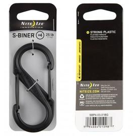 Karabinek Nite Ize S-Biner 4 Plastic Black Gate - Czarny - SBP4-03-01BG