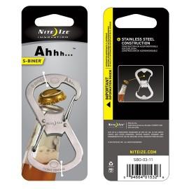 Karabinek Nite Ize S-Biner Ahhh Bottle Opener - Stalowy - SBO-03-11