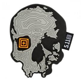 Naszywka 5.11 Topo Skull - Grey