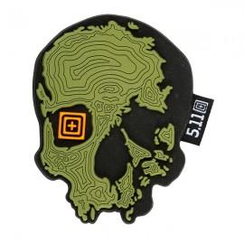 Naszywka 5.11 Topo Skull -Mosstone