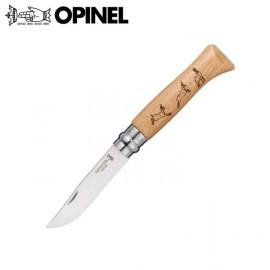 Nóż Opinel INOX oak Animalia Chamois 8