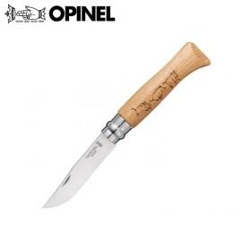 Nóż Opinel INOX oak Animalia Boar 8
