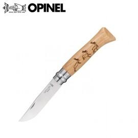 Nóż Opinel INOX oak Animalia Deer 8