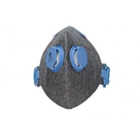 Higieniczna półmaska antysmogowa CityMask szaro-niebieska 2V N