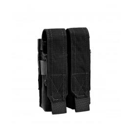 Ładownica Defcon5 na dwa magazynki do pistoletu 9mm - czarna