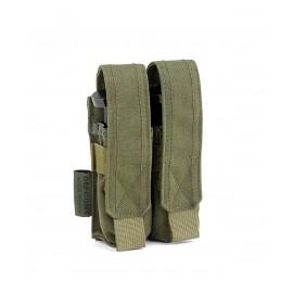 Ładownica Defcon5 na dwa magazynki do pistoletu 9mm - olive