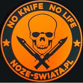 Naszywka Noże Świata No Knife No Life