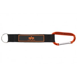 Brelok z karabińczykiem Alpha Industries Short Strap Orange 196913-417