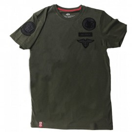 Koszulka Alpha Industries Air Crew T Dark Olive 196519-142
