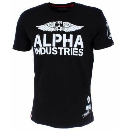 Koszulka Alpha Industries Rebel T Black 196518-03