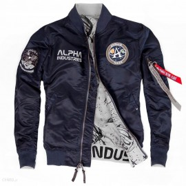 Kurtka Alpha Industries MA-1 Moon Landing reversible repl.Blue