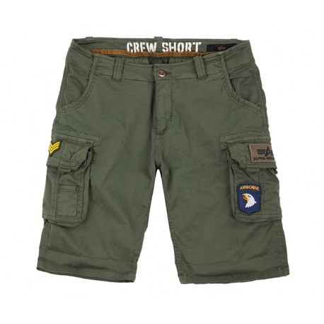 Szorty Alpha Industries Crew Patch Dark Olive 186209-142