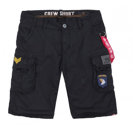Szorty Alpha Industries Crew Patch Black 186209-03